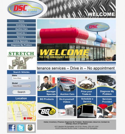 Discount Service Center Website