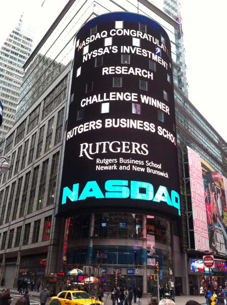 Rutgers Business School lights up Times Square