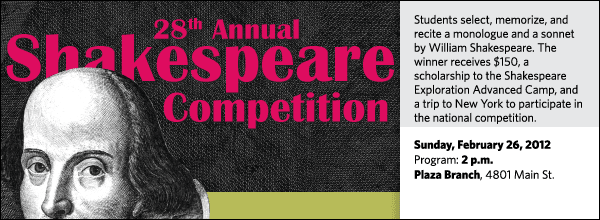 2012 ESU Shakespeare Competition