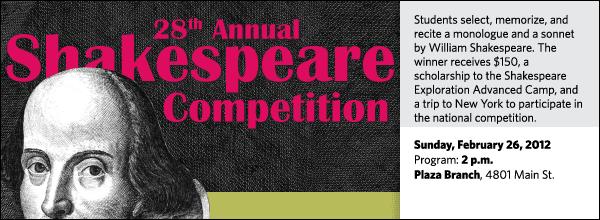 2012 ESU Shakespeare Competition