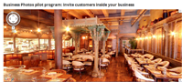 Google panorama photo of interior of a business