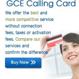 GCE Phone Calling Card