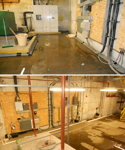Flooded Basement In Commercial Property: Waterproofing A Flooded Basement -- Timberwise