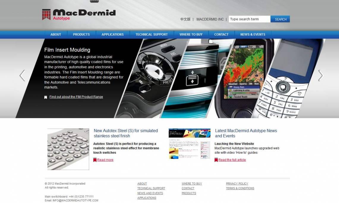 MacDermid Autotype homepage
