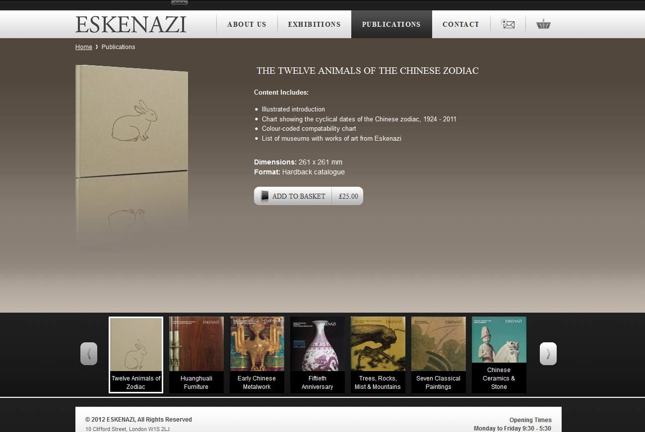 Eskenazi publications store webpage