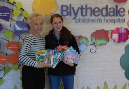 RecoveRead donated over 100 books to Blythedale