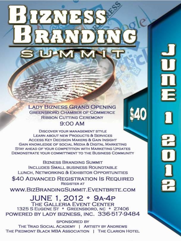 Bizness Branding Summit June 1, 2012