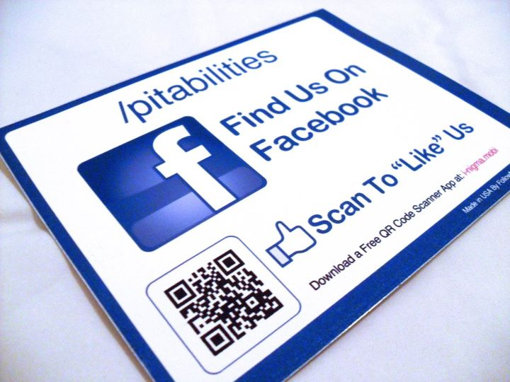 Large Facebook Stickers & Facebook Table Tents