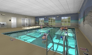 Rendering of Indoor Heated Pool