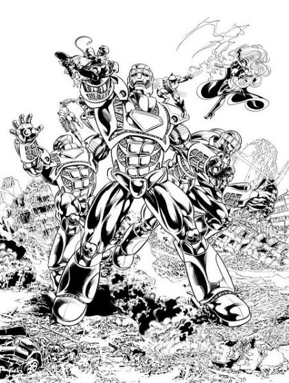 Hasbro Sentinel Art by Mike Deodato Jr.