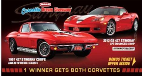 The winner will receive both Corvettes.
