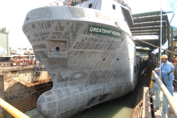 GREATSHIP ROOPA JUST BEFORE LAUNCHING