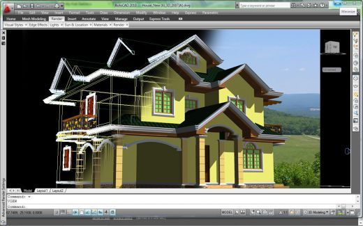 Low Cost AutoCAD 3D Modeling Services, 3D AutoCAD Models Outsourcing