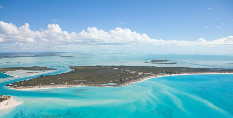 Pine Cay, TCI  aerial view