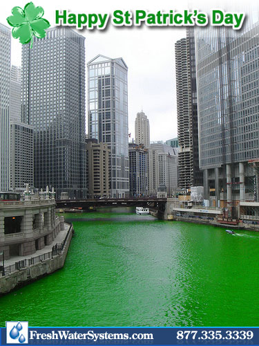 St. Patricks Day Green, No Water Filter Needed