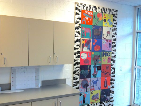 Tile mural created with Viewmont Elementary youth