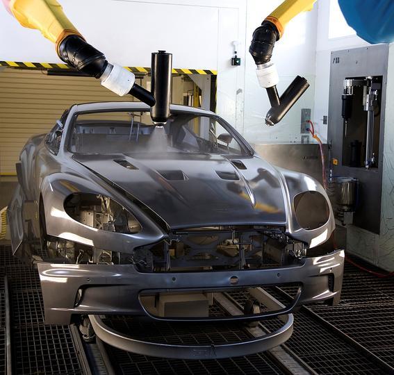 ABB paint robots painting Aston Martin