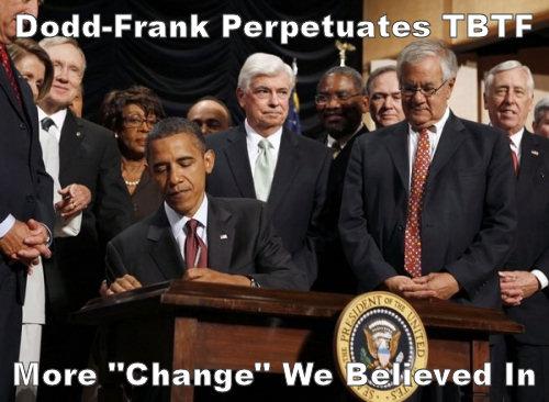 Dodd Frank Perpetuates Too Big To Fail (TBTF)