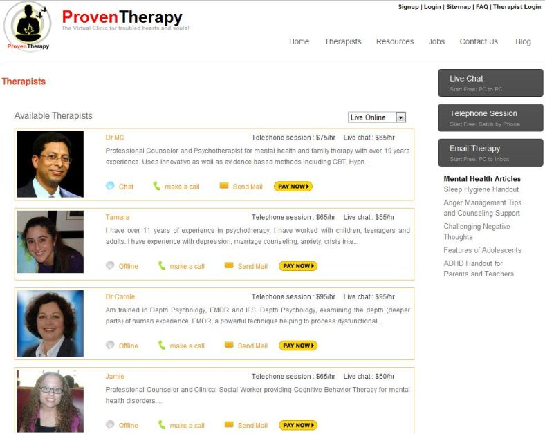 Proventherapy Gets A Face Lift As Multi Therapists Platform Goes