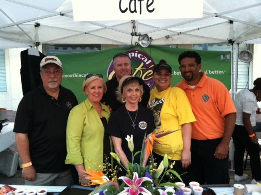 Tropical Smoothie Cafe  attends Taste of St Lucie