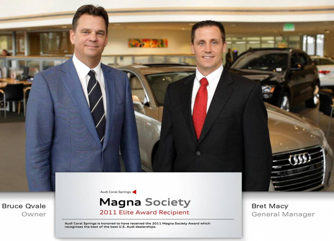 Audi Coral Springs Has Just Been Named The Audi Elite Magna - Coral springs audi