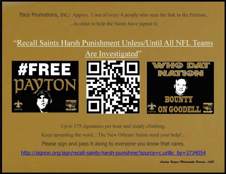 Saints Fans print & pass out QR Code flyers to get