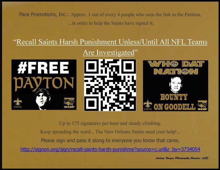 Saints Fans print & pass out QR Code flyers to get