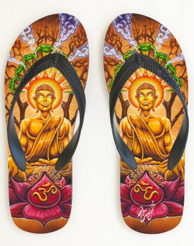 buddha lotus sandals by Drew Brophy