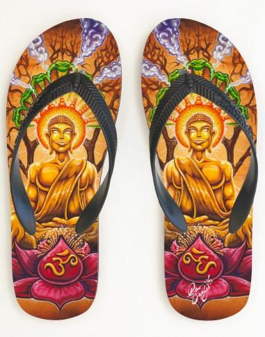 buddha lotus sandals by Drew Brophy