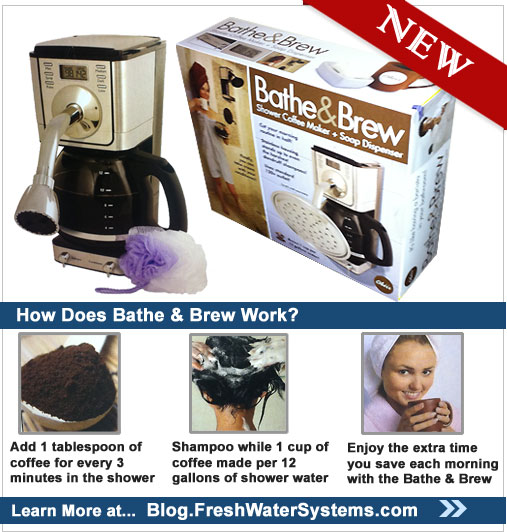 Putting Your Shower Water Usage to Work Making Coffee: The New Bathe & Brew System PRLog