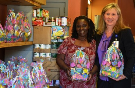 Hospital Staff Donates Easter Baskets
