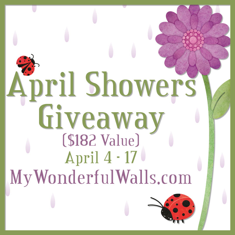 April Showers Giveaway by My Wonderful Walls