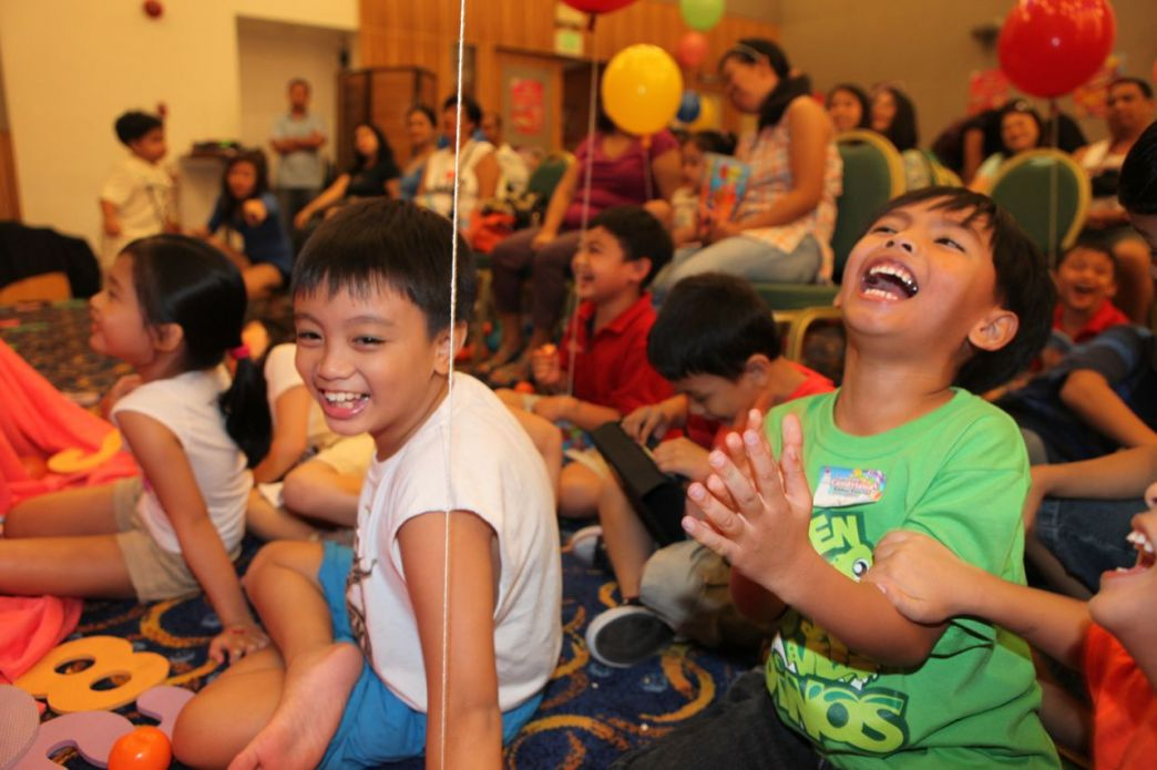Kids having a blast!
