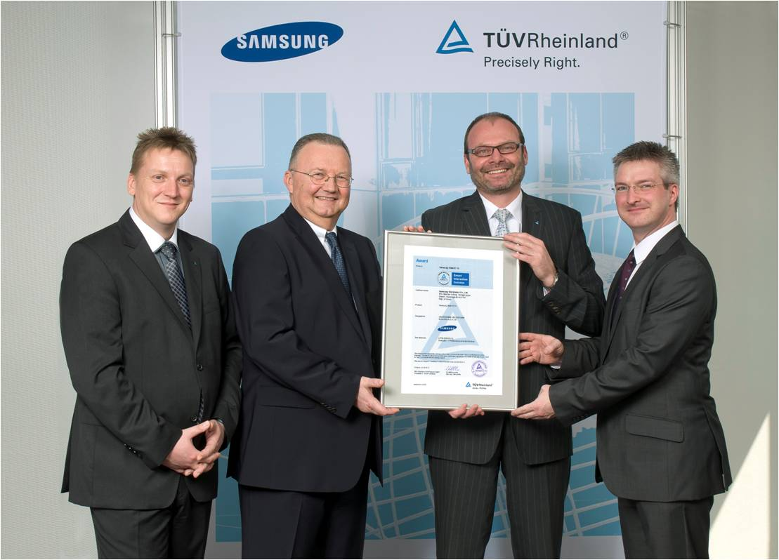 TUV-Samsung Smart TV certificate award ceremony