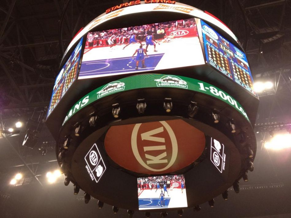 1-800LoanMart LED Sign at Clippers Game