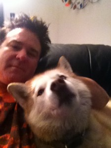 xander and one of his dogs