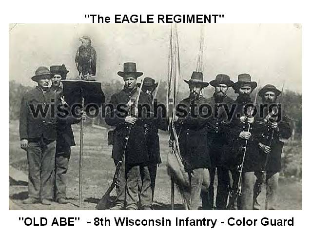 Color Guard  8th Wi Infantry courtesy of State WI