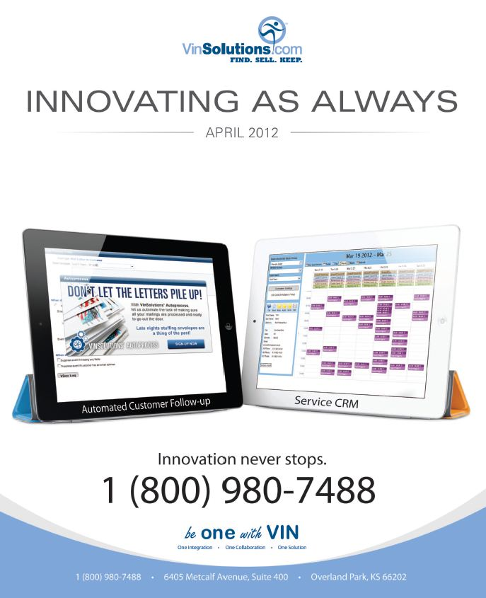 VinSolutions' Service CRM & Auto Process Solutions