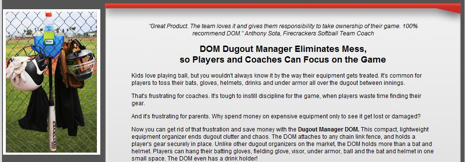 Dugout Manager Home Page
