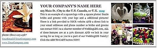 WeddingLDS.com Wedding Vendor Directory Ad