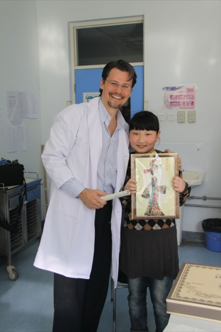 Dr. Graham and the first Chinese pediatric patient