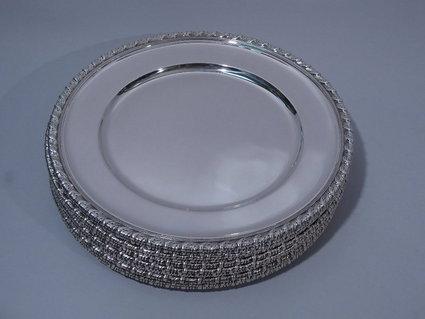 tiffany sterling silver dinner plates & Rare Collection of 12 Tiffany Sterling Silver Plates On Sale ...