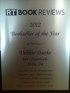 Bookseller of the Year Plaque