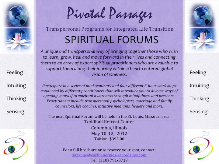 PIVOTAL PASSAGES SPIRITUAL FORUMS