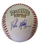 PedroMartinezSigned2004WorldSeriesBaseball