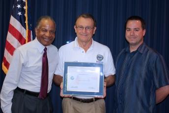 Tec-Masters President, Dr. Marvin Carroll (left) Receives Patriot Award