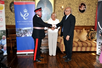 Receiving the Queen's award 2011