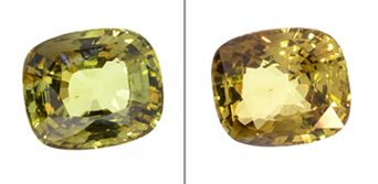 15.35-carat alexandrite gemstone reveals its chameleon-like quality