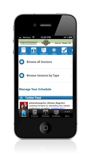 ASSE 2012 EventPilot Conference App