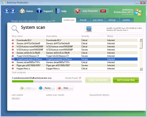 Antivirus Protection 2012 Rogue AntiSpyware Program